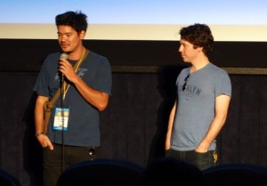 Director Destin Daniel Cretton and Actor John Gallagher Jr. at the Los Angeles Film Festival