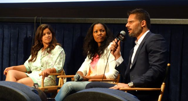 Gina Rodriguez (Filly Brown), Garcelle Beauvais (White House Down) and Joe Manganiello (Magic Mike/True Blood) — at Los Angeles Film Festival.