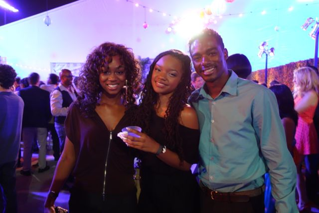 "Actors Pepi Sonuga, Jaida-Iman Benjamin and Jared Lorenzo at the ""Life of a King"" after party."